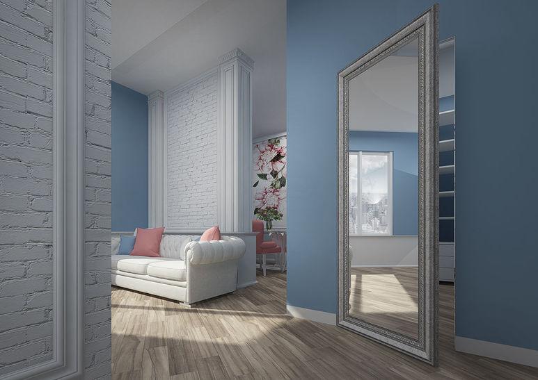 Раздвижная дверь с зеркалом