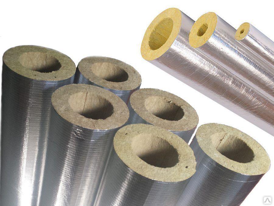 Цилиндры минераловатные кашированные алюминиевой фольгой и без покрытия